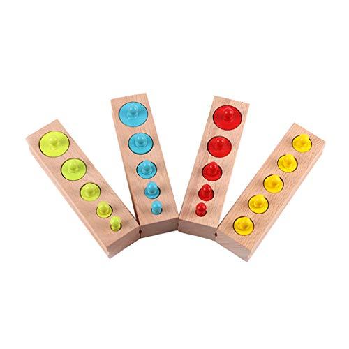 Ruiboury Bambino Giocattoli di Legno colorato Socket Blocco cilindri Bambini educativo prescolare precoce Toy Learning