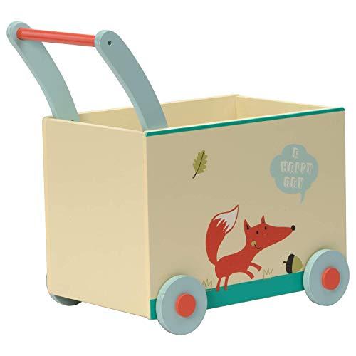 TOYSBBS Kinder Lauflernhilfe Holz Rutschauto Vierrad Push Spielzeug, Baby Walker, Lauflernwagen, Gleichgewicht Training Spielzeug ab 1 Jahr