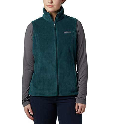 Columbia Women's Plus Size Benton Springs Soft Fleece Vest, Dark seas, 3X