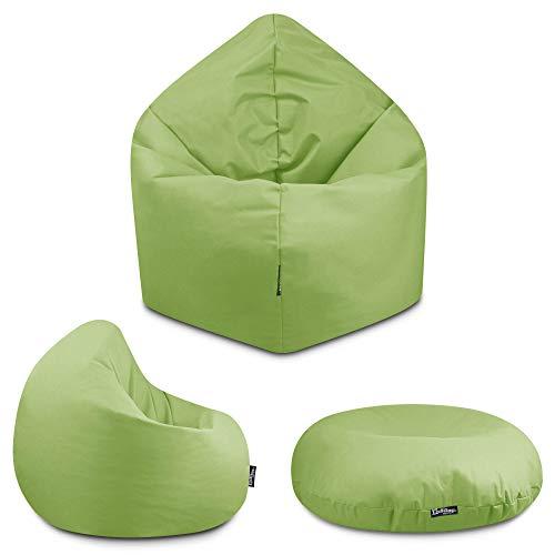 2in1 Sitzsack Bodenkissen Outdoor Sitzsäcke Indoor Beanbag in 32 Farben & 3 Größen wählbar Sitzkissen Kinder Yoga Kissen Erwachsene Schule Kindergarten (Lime-100 cm)
