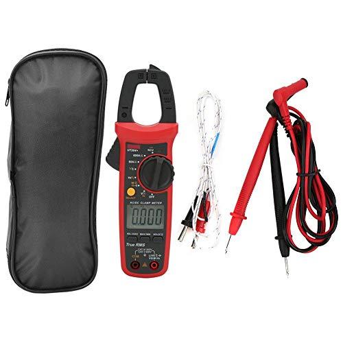 UT204 + Handzangen-Multimeter, Auto Range True RMS Wechselspannungs-Stromzangen-Digitalmultimeter mit Ampere-, Volt-, Ohm-, Dioden-, Widerstands- und Temperaturtest