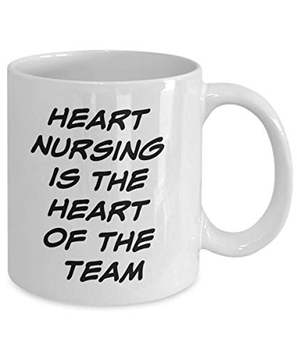 Save %25 Now! Heart Nursing Is The Heart Of The Team: Funny Coffee Mug Novelty Cup Perfect Gift Idea...