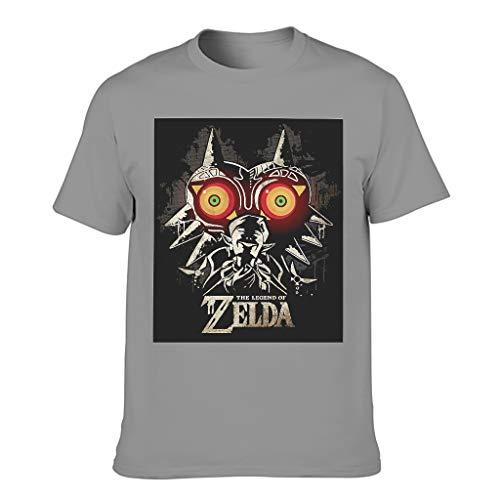 Zelda Majora Maske T-Shirt klassisch Neuheit T-Shirt für Erwachsene und Jugendliche Dark Gray 3XL