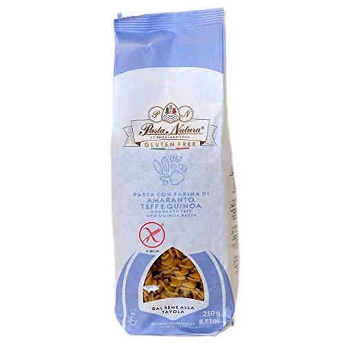 Pasta senza glutine con farina di legumi e cereali 250gr (Fusilli Amaranto, Teff Quinoa)