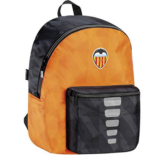 Mochila Valencia CF Adaptable a Carro Cremallera Gruesa y Bolsillo Interior para Portátil/Tablet Color Negro y Naranja 33x44x14 cm