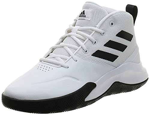 adidas Ownthegame, Zapatillas Medias Hombre, FTWBLA/NEGBÁS/FTWBLA, 42 EU