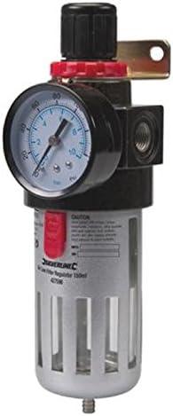 Silverline 427596 - Filtro regulador para aire comprimido (150 ml ...