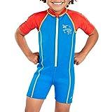 Speedo Seasquad Hot Tot Suit Bañador, Unisex niños, Neon Blue/Risk Red, 2...