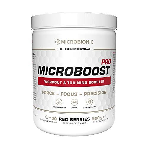 MICROBIONIC MICROBOOST PRO - Krafttraining; Pre-Workout Booster, Sport,...