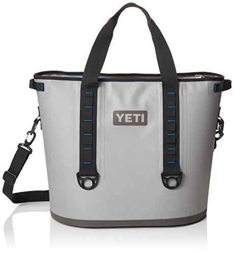 YETI Hopper 40 Portable Cooler Fog Gray / Tahoe Blue
