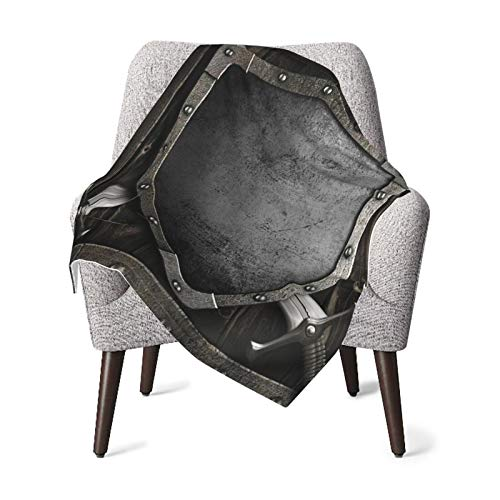 Medieval Decor Collection Medieval Shield And Crossed Swords On Wood Gate Safety Security Military Style Dark Wood Dimgrey Baby Blanket, Baby Quilt, Baby Comfort Blanket, Baby Double Blanket
