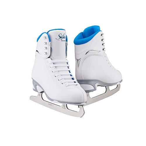 Jackson JS 180 SoftSkate Adult Figure Ice Skates (Blue, 8)