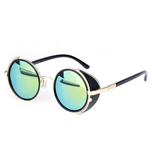 eshion Hot Cool Vintage Style Unisex Round Frame Sunglasses