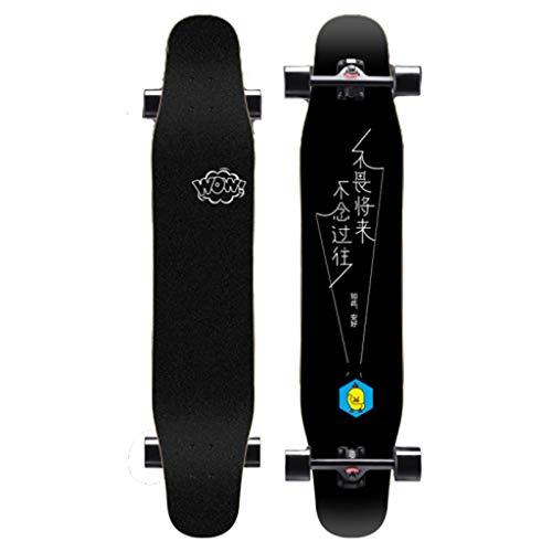 XUEYING-KickScooter Professional Beginner Skateboard Longboard Adult Boy Female Generation Youth Four Wheel Skateboard (Color : B)
