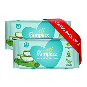 Pampers Baby Gentle Wet Wipes with Aloe Vera, 72 Wipes 18 410oD5CXvuL. SS300