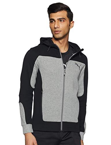 PUMA EVOSTRIPE Hooded Jacket Veste De Survêtement Homme Medium Gray Heather FR : M (Taille Fabricant : M)