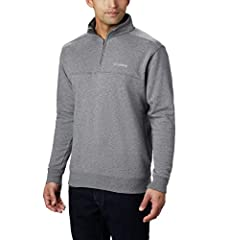 SOFT FABRIC: This Columbia Men's Hart Mountain II Half Zip is crafted of 60% cotton and 40% polyester suede fleece for a soft touch and ultimate warmth. STYLE: Rib knit cuffs and a rib knit waist band give this half zip added style. ULTIMATE COMFORT:...