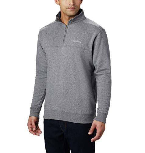 Columbia Men's Hart II 1/2 Zip Jacket, Charcoal Heather, Medium