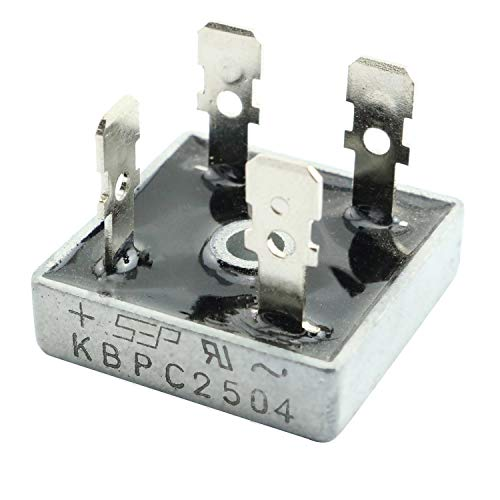 RuiLing 1 Piece KBPC2504 Bridge Rectifier Diode Single Phase Square DIP 25A 400V KBPC 2504 Power Rectifier Diode Electronic Component