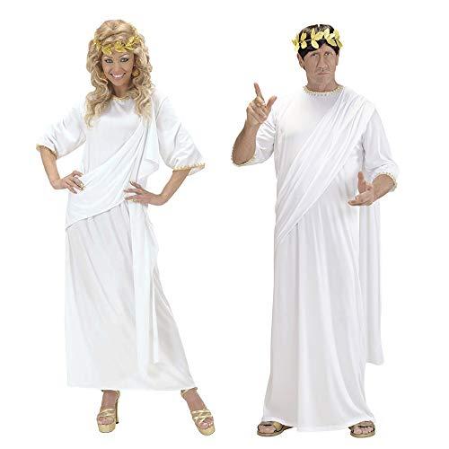 Widmann 71792 - Kostüm Toga, unisex, weiß, Größe M