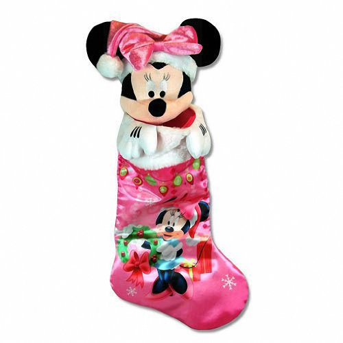 Just Play 1 X Disney Minnie Mouse 18' Satin Stocking Full Printed Plush