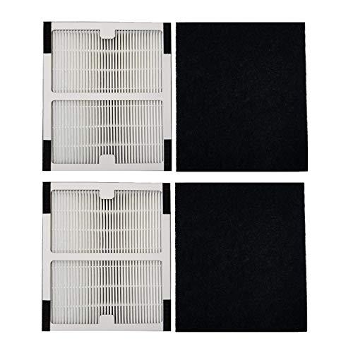 XINXI Replacement Idylis Air Purifier Filter B - 2 Pack Hepa & Carbon Filter Set for Idylis Air Purifiers Idylis IAP-10-125,IAP-10-050,IAP-10-150,AC-2125,AC2126,AC-2126 Model # IAF-H-100B