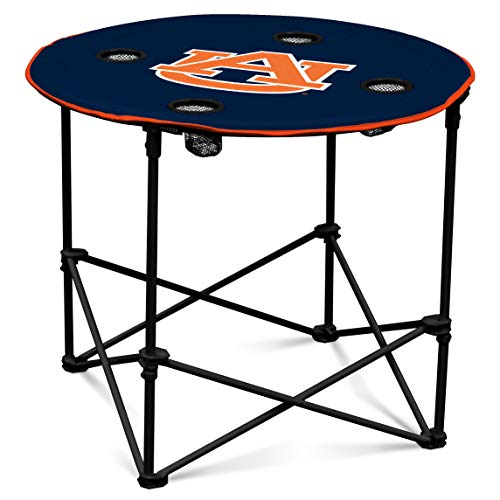 Auburn Tigers Collapsible Round Table with 4 Cup Holders and Carry Bag, multi/none
