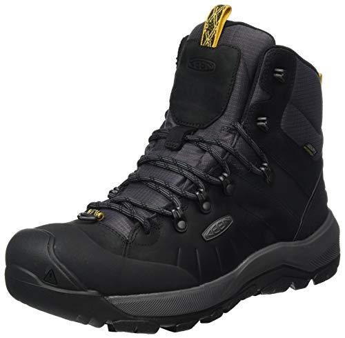 KEEN Men's Revel 4 Mid Height Polar Snow Boot, Black/Magnet, 11