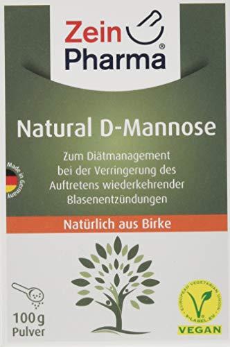 ZeinPharma D-Mannose Pulver (2 Monate Vorrat) dietätische Behandlung gegen Blasenentzündung Hergestellt in Deutschland, 100 g