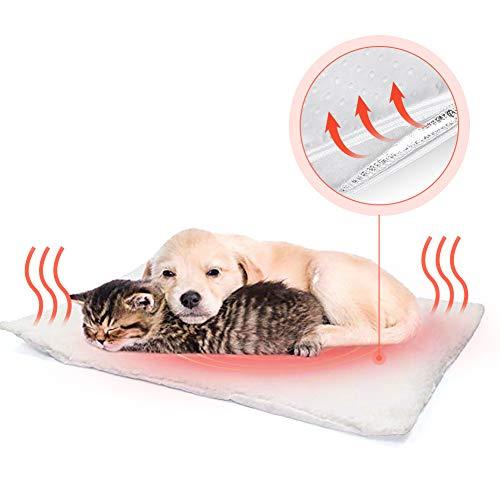 Fyore Selbstheizende Decke für Katzen Hunde kleine Tiere Katzendecken Haustierdecke selbstwärmende Hundematte Wärmmatte Heizmatte Heizdecke,Umweltfreundliche Kuschelig waschbar,Größe: 58x43cm