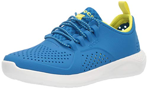 crocs Unisex-Kinder Literide Pacer K Sneaker, Bright Cobalt/Citrus, 29/30 EU