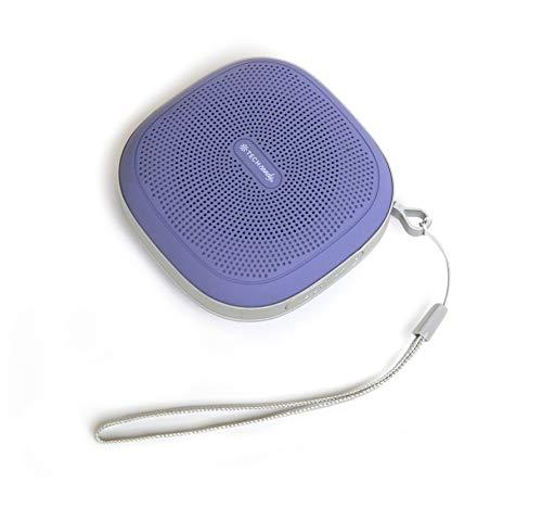 Tech Candy Tune Tag-Along Portable Bluetooth Speaker - Platinum/Lavender