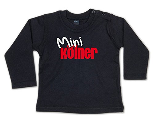 G-graphics Mini Kölner Baby Sweatshirt 268.0078 (12-18 Monate, schwarz)