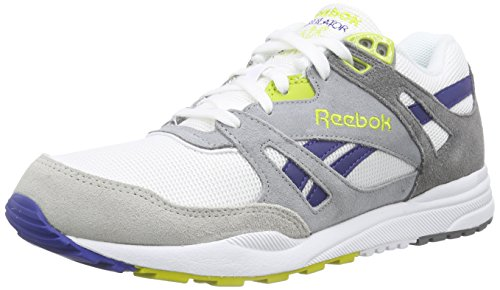 Reebok Herren Ventilator Athletic Laufschuhe, Mehrfarbig (Snowy Grey/White/Flat Grey/Medium Grey), 42 EU