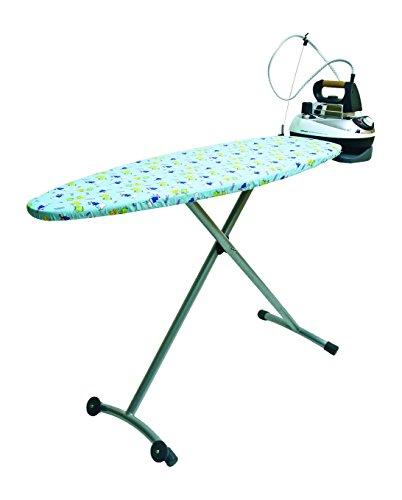 Orbegozo TP5000 Tabla de Planchar, Fabricada en Rejilla de Acero, Funda de Algodón, Soporte para Centros de Planchado, 135 X 46 cm