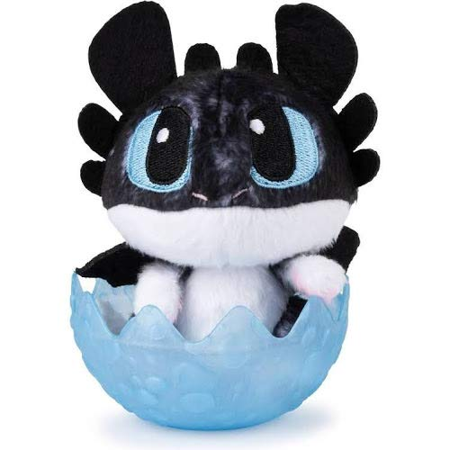 Cómo entrenar a tu dragón: luz nocturna oculta para bebé de 3 cm de felpa en huevo, sellada de…