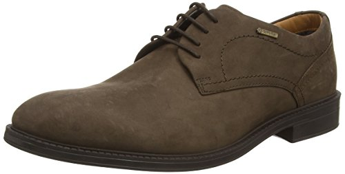 Clarks ChilverWalkGTX, Derby para Hombre, marrón (Dark Brown Nub), 42 EU