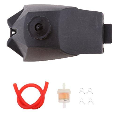 tanque de combustible + manguera + filtro para 49cc atv mini motor quad pocket dirt bike