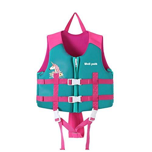 LLine Professional zwemvest voor kinderen, snorkelvestje, riem, riem, riem, zwemvest, zwemveiligheid, zwempak, roze, L