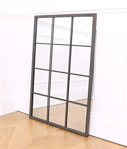 Select Mirrors Espejo Rectangular para Ventana de Metal, 60 x 90 cm (Metal rústico)