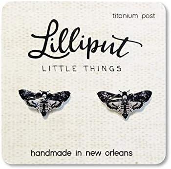 Deadhead Moth Earrings, Witchy Jewelry, Halloween Earrings,Halloween Jewelry, Silence of the Lambs