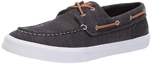 Sperry Men's Bahama II Baja Sneaker, Black, 9.5