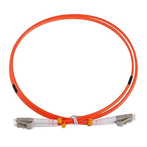 XIOFYA Cavo Riscaldamento a Pavimento Caldo Wire Cavo 1M Cavo Jumper Duplex multimodo LC-LC LC a LC Fibra Ottica a Fibra Ottica (Colore : Orange)