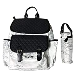 WANT STYLE & PRACTICALITY? Look no further! Packed with style and functionality, the stunning Marble Premium Diaper Bag is a fresh new design from Nicole 'Snooki' Polizzi and forms part of her 'MAWMA' range at Your Babiie. Combining the fashion and f...