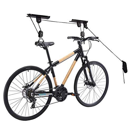 Bike Ceiling Mount Lift, Heavy Duty Bike Hoist Pulley Hanger, Garage Ceilling Storage Rack for Ladder, Caneo, Bike, One Size