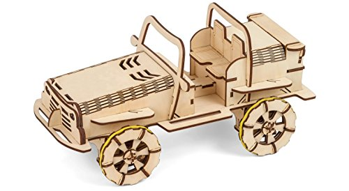 Wooden 3D Puzzle Bluetooth Controlled Electric DIY Buggy Car Kit, 3d Puzzle For Adults, Brain Teaser, Self Assemble Engineering Toys, New Model