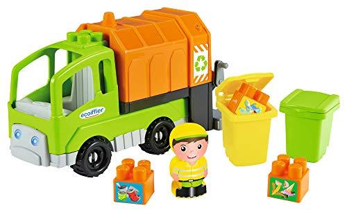 Ecoiffier- Camion Poubelle Abrick – Jeu de Construction pour Enfants – Dès 18 Mois – Fabriqué en France, 3350