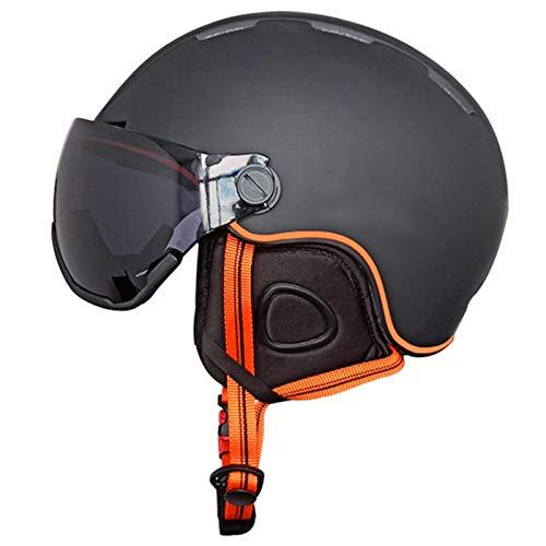 Casco De Esquí, Casco Para Deportes Con Gafas De Esquí Ligero Resistente Al Viento Cálido Transpirable De Seguridad Snowboard Bicicleta Equipo De Escalada Para Jóvenes Hombres Mujeres C,L