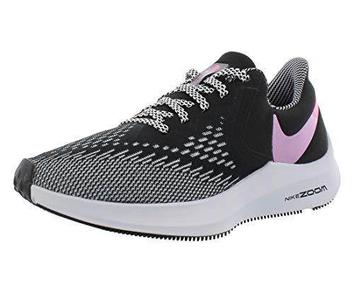 Nike Zoom Winflo 6 - Zapatillas de correr para mujer, Negro (Negro/Lotus Pink-Pure Platinum), 35 EU
