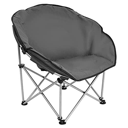 BJYX Silla gris ligero plegable silla asiento camping pesca playa barbacoa jardín terraza